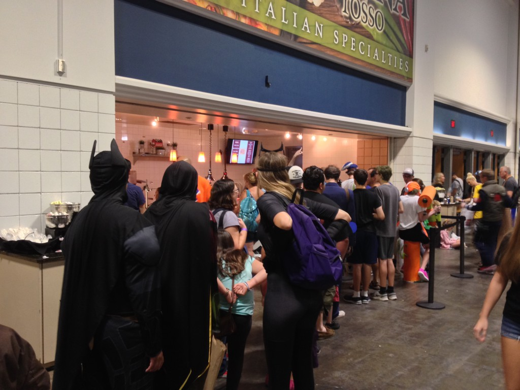 27 - Why the hell is Batman having to wait in line for pizza