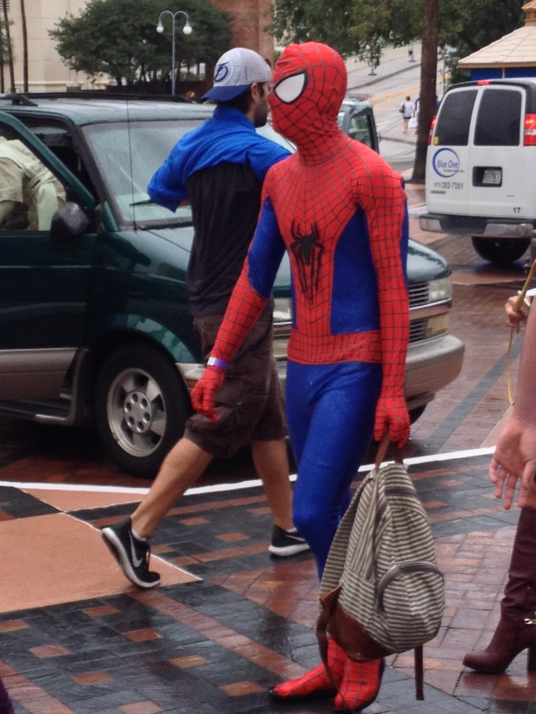 4 - Spiderman and his knapsack