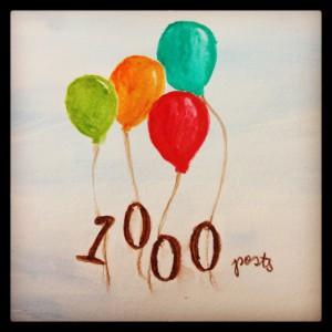 1000 posts