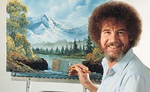Bob Ross paints