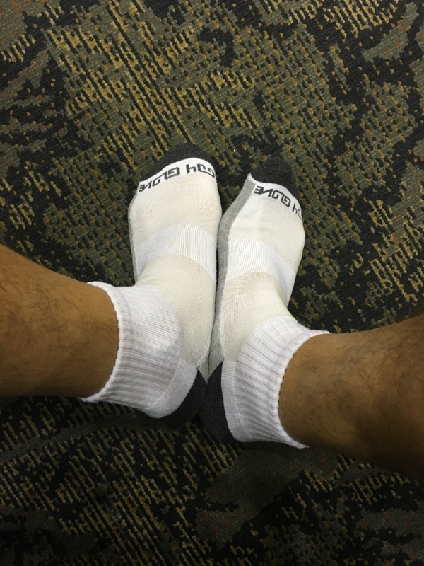 Who remembers the days when you didn't have to strip naked before boarding an airplane?  Good thing I wore matching socks #cavitysearchoptional