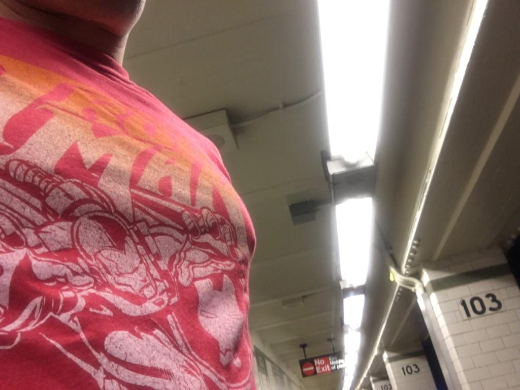 Iron Man hops the subway at 103rd