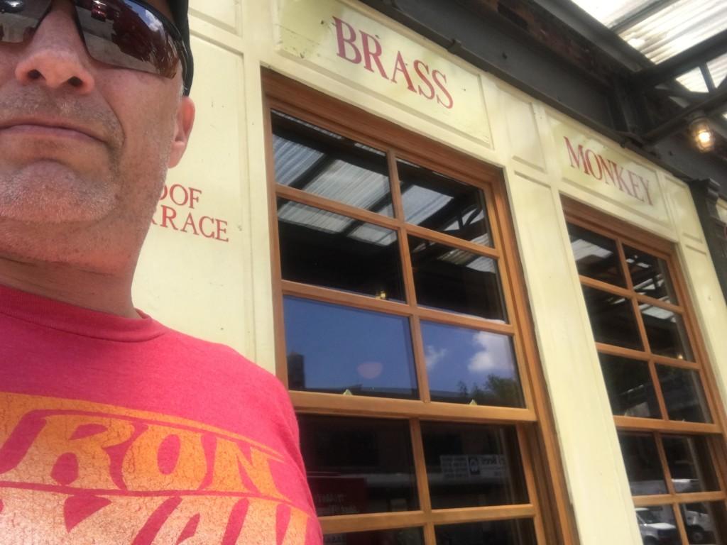 At the Brass Monkey, the funky monkey